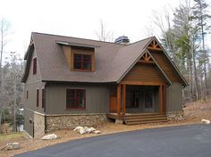 4 Bedroom Rustic House Plan with Porches | Stone Ridge Cottage