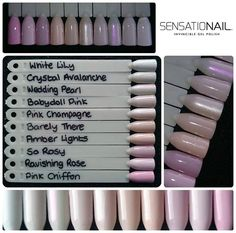 Sensationail Colors, Pale Nails, Sculptured Nails, White Lilies, Pink Champagne, Nails Inspiration, Gel Polish, Pink Roses, Health And Beauty