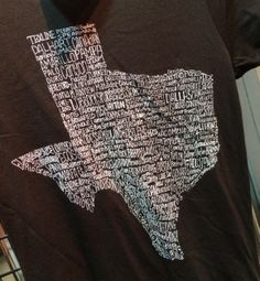 Texas Towns Tee from LizBeth Boutique at The Shoppes at Brownstone Village in Arlington, TX!
