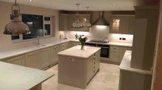 Teweksbury Framed Skye Kitchen New Kitchen, Kitchen Island, Kitchen Ideas, Corner Bathtub, Sweet Home, Kitchens, Bathroom, House, Kitchen Inspiration