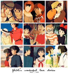 Princess Mononoke, Nausicaa of the Valley of the Wind, Castle in the Sky, Howl's Moving Castle, Whisper of the Heart, Kiki's Delivery Service, Tales from Earthsea, From Up on Poppy Hill, and Spirited Away