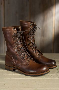 Men's Walk-Over Ian Fold-Over Leather Jump Boots by Overland Sheepskin Co. (style 51704)