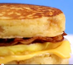 Amazing McGriddle Copycat Recipe | The perfect breakfast sandwich.  Perfect to freeze for mornings on the go, or if I just don't want to make breakfast.