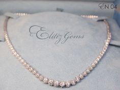 #beautifuldiamondnecklace   6.13 ct round diamond necklace VVS F color by Elitiz Gems. Diamond is a girl's best girl