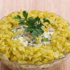 Sałatka pieczarkowa Appetizer Salads, Appetizers, Polish Recipes, Coleslaw, Salad Dressing, Quinoa, Risotto, Spices, Food And Drink