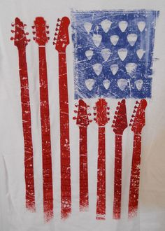 Guitar Flag Mens T-shirt S Red White Blue Patriot 4th of July Rock in Clothing, Shoes & Accessories, Men's Clothing, T-Shirts | eBay