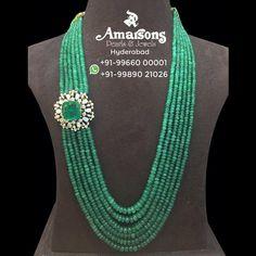 Emerald necklace with diamond side pendant photo Agate Jewelry, Emerald Jewelry, Bead Jewellery, Emerald Necklace, Gold Jewelry, Pearl Jewelry, Diamond Jewelry, Silver Earrings, Beaded Jewelry Designs