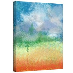 Big Sky Calm by Jan Weiss Graphic Art on Canvas