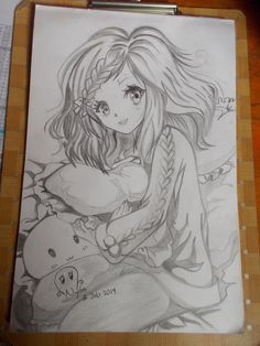 (๑•̀ㅂ•́)و anime girl sketch by cningtias