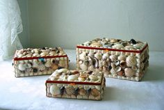 Seashell boxes.