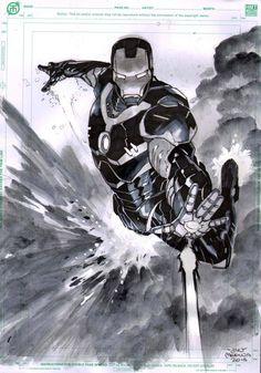 #Iron #Man #Fan #Art. (Iron Man) By: Lan Medina. ÅWESOMENESS!!!™