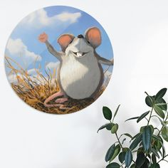 Discover «Dinko the Vole», Exclusive Edition Disk Print by Dragan Kordic - From $59 - Curioos