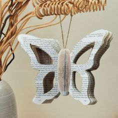 Book Art Hanging Butterfly, Available from http://www.creatoncraftsandgifts.co.uk/shop/book-art/book-art-butterfly/