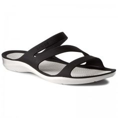 Papucs CROCS - Swiftwater Sandal W 203998 Black/White