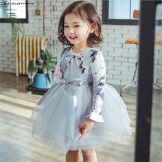 2017 Spring New Girls Dress Baby Girl Princess Dress 3-7 Age Chlidren Clothes Kids Party Costume Ball Gown Dress