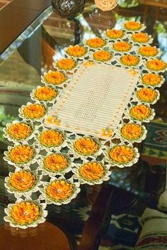 crochet, patterns, doily, napkins, lilies, flowers, easy, free, crocheted, beautiful, creativity, crocheted, how to knit, own hands, patterns, crafts, simple, small, cute