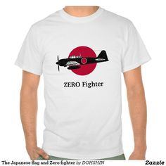 The Japanese flag and Zero fighter T シャツ
