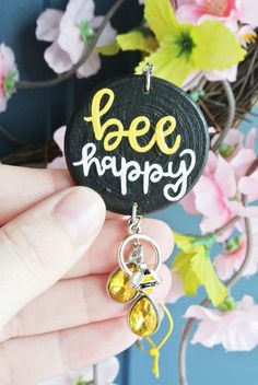 Positive Quotes Yellow Car Accessories for Women Teens Save Car Rear View Mirror, Car Mirror, Home Design, Car Accessories For Women, Yellow Car, Operation Christmas Child, Cute Charms, Save The Bees, Bee Happy