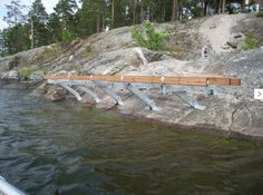 Konsollbrygga 14 Lake Landscaping, Electric Boat, Boat Lift, Tower House, Construction Tools, Lake Cabins, Water Toys, Pergola, Landscape