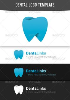 Modern Dental Logo Template #GraphicRiver This modern looking dental logo is suitable for print and web usage. Resizable, and easily editable vector shapes are used. Works well on both light or dark backgrounds. You can use it on business card, or your website title, even flyers or other DTP projects. Can be a good application icon too! These are the fonts I used, both are 100% free for commercial use – according to FontSquirrel ( .fontsquirrel ) Titillium – .fontsquirrel…