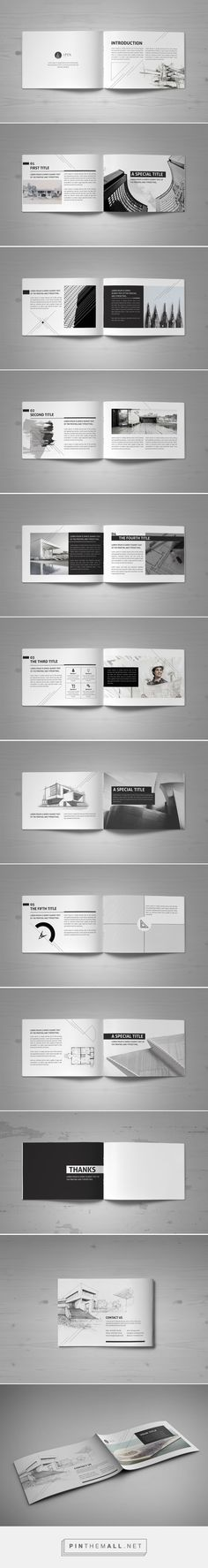 Minimal Modern Black & White Architecture Brochure by Mohammed Al Gharabli: - Graphic Files Layout Design, Design Retro, Graphisches Design, Print Layout, Design Brochure, Booklet Design, Brochure Template, Layout Template, Magazine Ideas