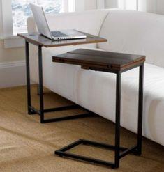 Mesa de arrimar hierro y madera extensible