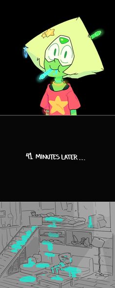 Peridot eating a glowstick
