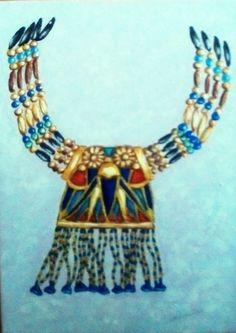 Collier trésor de Toutankhamon. Acrylique, Christine Monsion