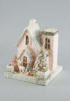 Little Pink Putz House House | Christmas Village