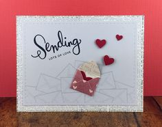 "I instantly fell in love with this cute little tiny envelope from the Ellen Hutson Store. It seemed a perfect match with the stamp set from Simon Says Stamp ""Sending happy thoughts"".  I also used the ""Femme frames"" from Mama Elephant."