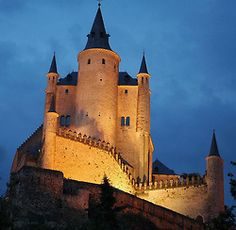 """Segovia, Spain --- The alcazar (castle) where Christopher Columbus asked Queen Isabella to fund his explorations to find """"India"""""""