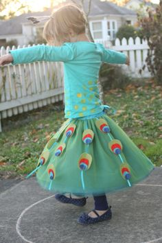 peacock peacock -- using then tulle skirt from Little things to sew book
