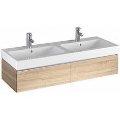 Keramag iCon Waschtischunterschrank 841222000 119x24x47,7cm, Holz Eiche natur