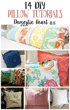 Today I've rounded up some of the best DIY pillow tutorials - most of these are so easy that anyone can make them!  Making your own pillow covers is a spectacular way to update your decor on a budget, and with this list, your options are truly endless! see them all at TheDomesticHeart.com