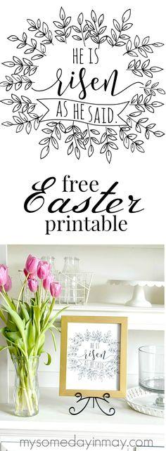 Free Easter printable he is risen
