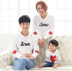 """Love"" Family Clothing Patchwork Clothes"