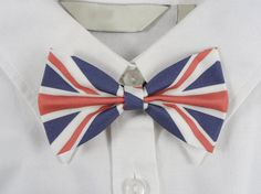 UK Flag Bow Tie United Kingdom Flag by PixieBluebellDesigns
