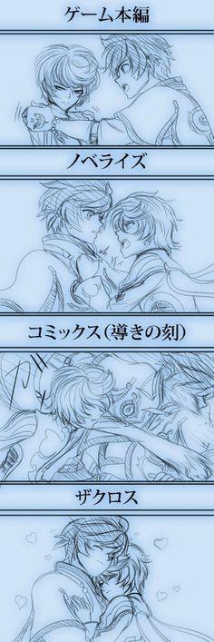 Zestiria - Sorey and Mikleo      (In order) game, manga, novel, anime xD