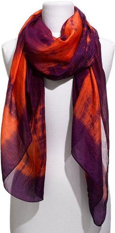 Tie Dye Silk Scarf - Lyst