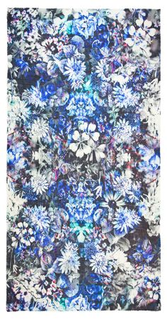 Celeste Blue Floral Busy print I lie how the white stands out against the blue which creates depth Botanical Prints, Floral Prints, Motif Tropical, Digital Wall, Surface Pattern Design, Paper Background, Pattern Wallpaper, Textiles, Textile Design