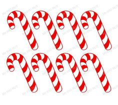 Candy Canes template by MySVGHUT on Etsy