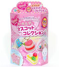 cute DIY clay charms making kit cake Japan 1