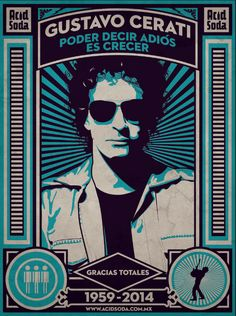 cerati Soda Stereo, Good Music, My Music, Heavy Metal Rock, School Of Rock, Queen Freddie Mercury, My Rock, Film Music Books, Cool Bands