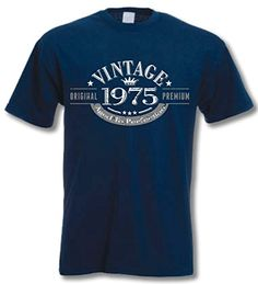 cool My Generation Gifts 1975 Vintage Year - 40th Birthday Gift Present T-Shirt Mens Navy L #fashion #beauty #lifestyle #vintage #beverage #vintagedress #hair #nails