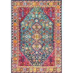 nuLOOM Distressed Traditional Flower Persian Multi Rug (7'10 x 11') | Overstock.com Shopping - The Best Deals on 7x9 - 10x14 Rugs