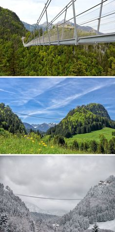 10 Of The Most AMAZING Suspension Bridges In The World // Highline179, in Reutte, Austria, claims to be the longest pedestrian suspension bridge in the world.