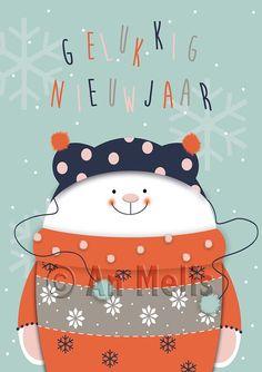 Nieuwjaarsbrief An Melis Christmas Pictures, Christmas Art, Winter Christmas, Christmas Decorations, Xmas, Christmas Illustration, Cute Illustration, Reindeer, Snowman