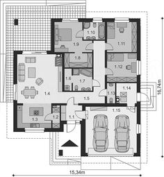 Minimalist House Design, Small House Design, Minimalist Home, Modern Family House, New House Plans, Planer, Shed, New Homes, Floor Plans