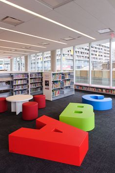 Fort York Branch - Toronto Public Library - children's area A B C letters.