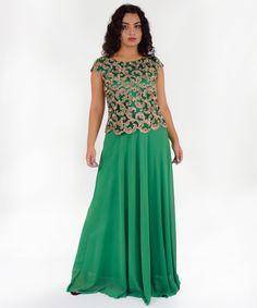 Φόρεμα Μάξι με Χρυσή Δαντέλα